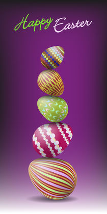 Pile of Easter eggs by maxal-tamor