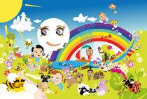 Kinderposter Regenbogen / children's poster rainbow by sucre-fineart