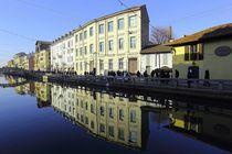 Häuserreihe in Mailand  by Patrick Lohmüller