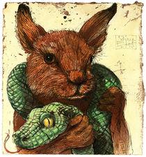 Kaninchen und Schlange by Rainer Ehrt