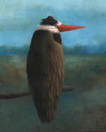 Vogel mit Hut vor Landschaft by Ludvik Glazer-Naudé