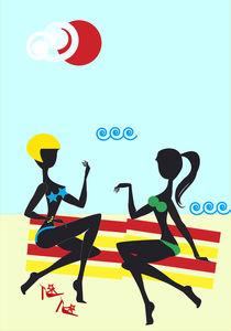 Girfriends on Seaside by maxal-tamor