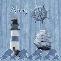 Ahoy - Maritime Blue von Monika Juengling