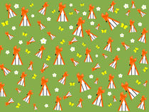 foxes in spring by kourai