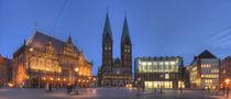 Altes Rathaus mit Dom St. Petri am Marktplatz bei Abenddämmerung, Bremen by Torsten Krüger