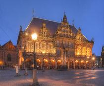 Altes Rathaus bei Abenddämmerung, Bremen von Torsten Krüger