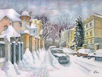 Winterliche Straße in Leipzig by Ronald Kötteritzsch
