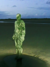 Last Iron Man on The Beach (Digital Art) by John Wain