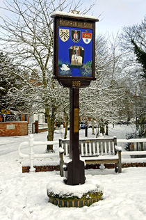 Rolleston on Dove, Village Sign von Rod Johnson