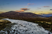 Winter Sunset from Bridge at Sligachan by Bruce Parker