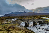 Cuillin Hills over Sligachan Bridge by Bruce Parker