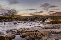 Winter Sunset, Old Bridge at Sligachan by Bruce Parker