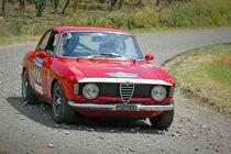 Red vintage Alfa Romeo Giulia 105 racing car von maxal-tamor