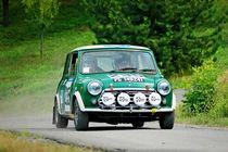 Green vintage Mini Innocenti racing car by maxal-tamor