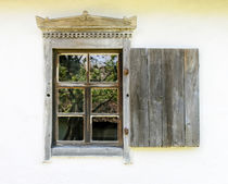 Detail of a window of a typical ukrainian antique house by maxal-tamor