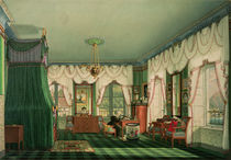 The Bedroom of Elizabeth of Bavaria by Franz Xavier Nachtmann