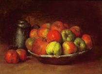 Still Life with Apples and a Pomegranate von Gustave Courbet