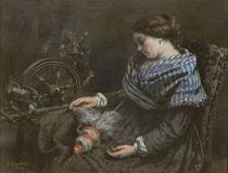 The Sleeping Embroiderer, 1853 von Gustave Courbet