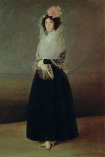Portrait of the Countess of Carpio Marquesa de la Solana by Francisco Jose de Goya y Lucientes