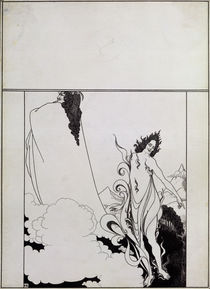 Fourth tableau of Das Rheingold by Aubrey Beardsley