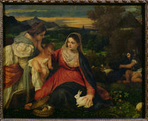 Madonna and Child with St. Catherine c.1530 by Titian