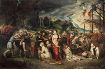 Aeneas prepares to lead the Trojans into exile by Peter Paul Rubens