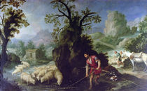 Jacob Setting the Peeled Rods before the Flocks of Laban by Bartolome Esteban Murillo