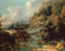 Landscape with waterfall von Joachim Franz Beich