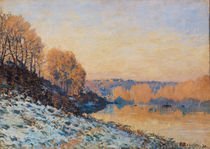 Port-Marly, White Frost, 1872 von Alfred Sisley