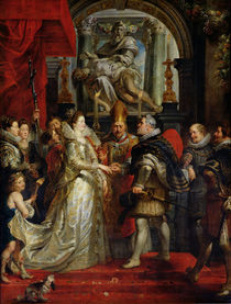 The Proxy Marriage of Marie de Medici and Henri IV 5th October 1600 von Peter Paul Rubens