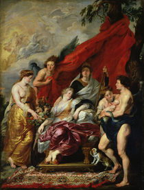 The Birth of Louis XIII at Fontainebleau by Peter Paul Rubens