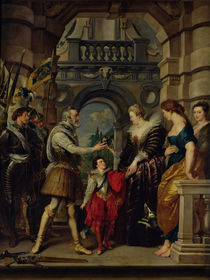 The Medici Cycle: Henri IV leaving for the war in Germany and bestowing the government of his kingdom to Marie de Medici 20th March 1610 von Peter Paul Rubens