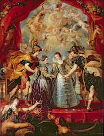 The Medici Cycle: Exchange of the Two Princesses of France and Spain von Peter Paul Rubens