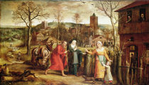 The Holy Family Turned Away from the Inn by Jan Massys or Metsys