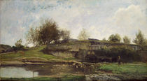 The Lock at Optevoz, 1855 by Charles Francois Daubigny