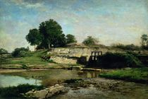 The Lock at Optevoz, 1859 by Charles Francois Daubigny