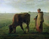 Woman Grazing her Cow, 1858 by Jean-Francois Millet
