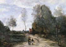 The Road by Jean Baptiste Camille Corot