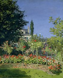 Flowering Garden at Sainte-Adresse by Claude Monet