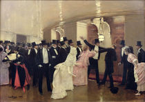 An Argument in the Corridors of the Opera von Jean Beraud