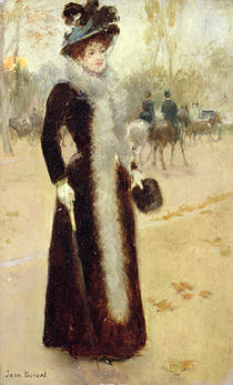 A Parisian Woman in the Bois de Boulogne by Jean Beraud