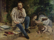 Pierre Joseph Proudhon and his children in 1853 von Gustave Courbet
