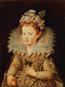 Portrait of Eleonora de Gonzaga Mantua as a Child by Frans II Pourbus