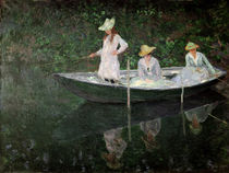 The Boat at Giverny, c.1887 by Claude Monet
