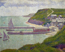 Harbour at Port-en-Bessin at High Tide by Georges Pierre Seurat