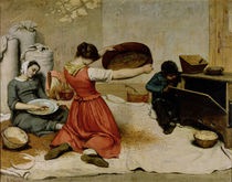 The Winnowers, 1855 von Gustave Courbet
