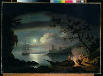 Teignmouth by moonlight