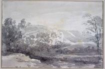 A View in Derbyshire von John Constable