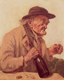 Old Man with a glass of wine von Gustave Courbet