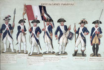 The Parisian Army during the French Revolution c. 1789 by Lesueur Brothers